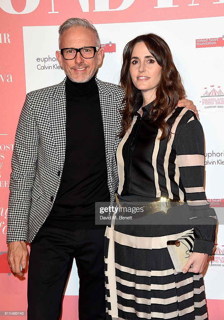 Patrick Cox and Tania Fares at The Naked Heart Foundation's Fabulous Fund Fair in London at Old Billingsgate Market on February 20 2016 in London...