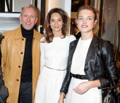 Patrick Cox Astrid Munoz and Natalia Vodianova attend a private viewing of 'Gaucho' a photographic exhibition by Astrid Munoz at the JaegerLeCoultre...