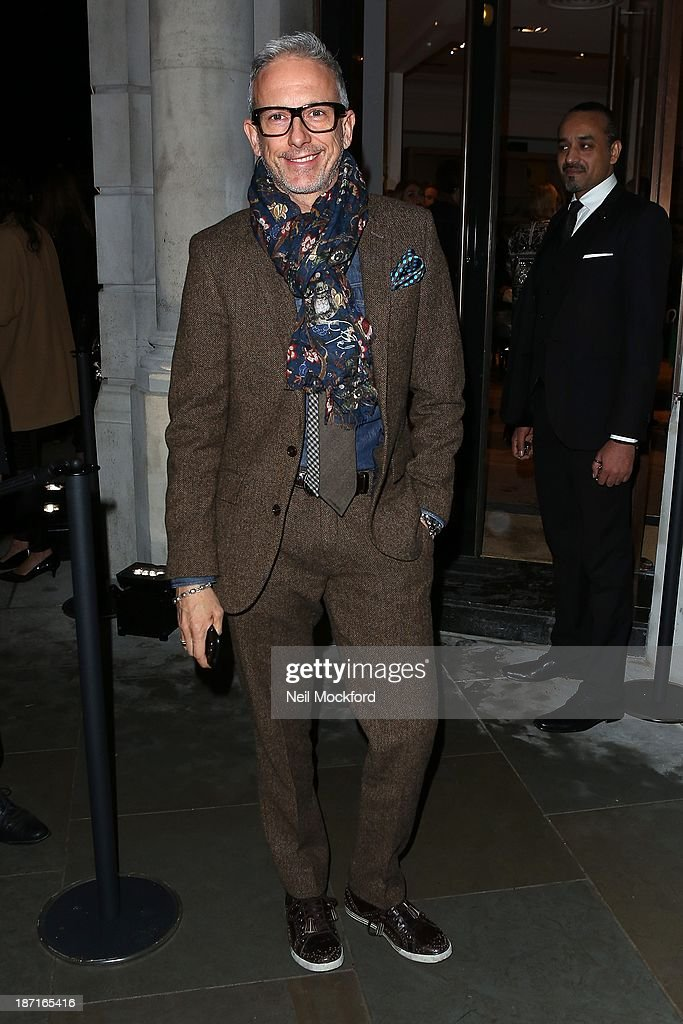 Patrick Cox at the UK flagship store launch of J. Crew on November 6, 2013 in London, England.