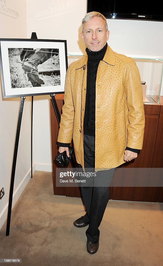 Patrick Cox attends a private viewing of 'Gaucho', a photographic exhibition by Astrid Munoz, at the Jaeger-LeCoultre Boutique on January 31, 2012 in London, England.