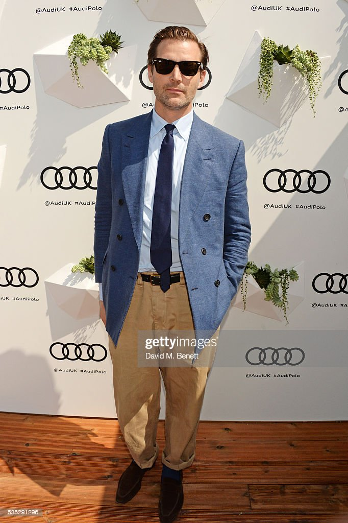<a gi-track='captionPersonalityLinkClicked' href=/galleries/search?phrase=Patrick+Cox&family=editorial&specificpeople=213883 ng-click='$event.stopPropagation()'>Patrick Cox</a> attends day two of the Audi Polo Challenge at Coworth Park on May 29, 2016 in London, England.