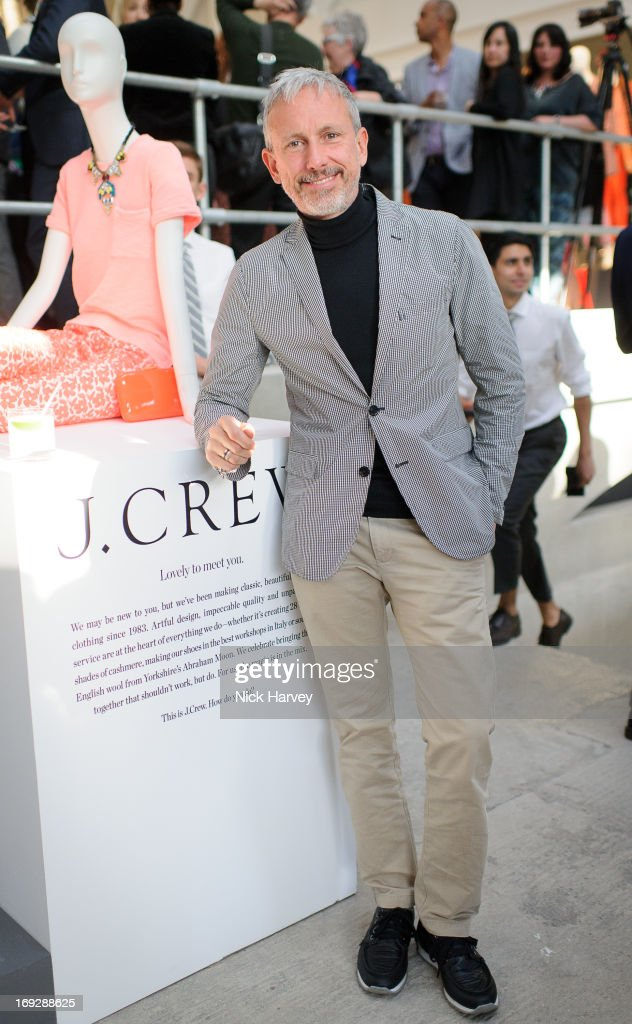 <a gi-track='captionPersonalityLinkClicked' href=/galleries/search?phrase=Patrick+Cox&family=editorial&specificpeople=213883 ng-click='$event.stopPropagation()'>Patrick Cox</a> attends private event to celebrate J.Crew And Central Saint Martins partnership at J.Crew on May 22, 2013 in London, England.