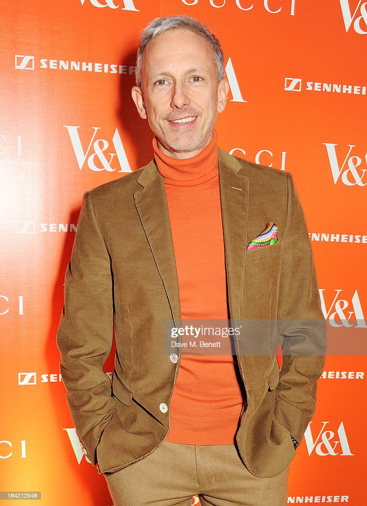 Patrick Cox attends the dinner to celebrate The David Bowie Is exhibition in partnership with Gucci and Sennheiser at the Victoria and Albert Museum on March 19, 2013 in London, England.