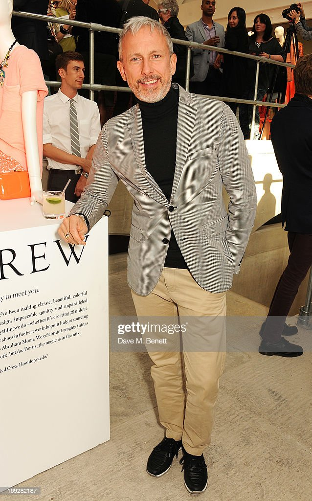Patrick Cox attends the J.Crew concept store to launch their partnership with Central Saint Martins College Of Arts And Design at The Stables on May 22, 2013 in London, England.