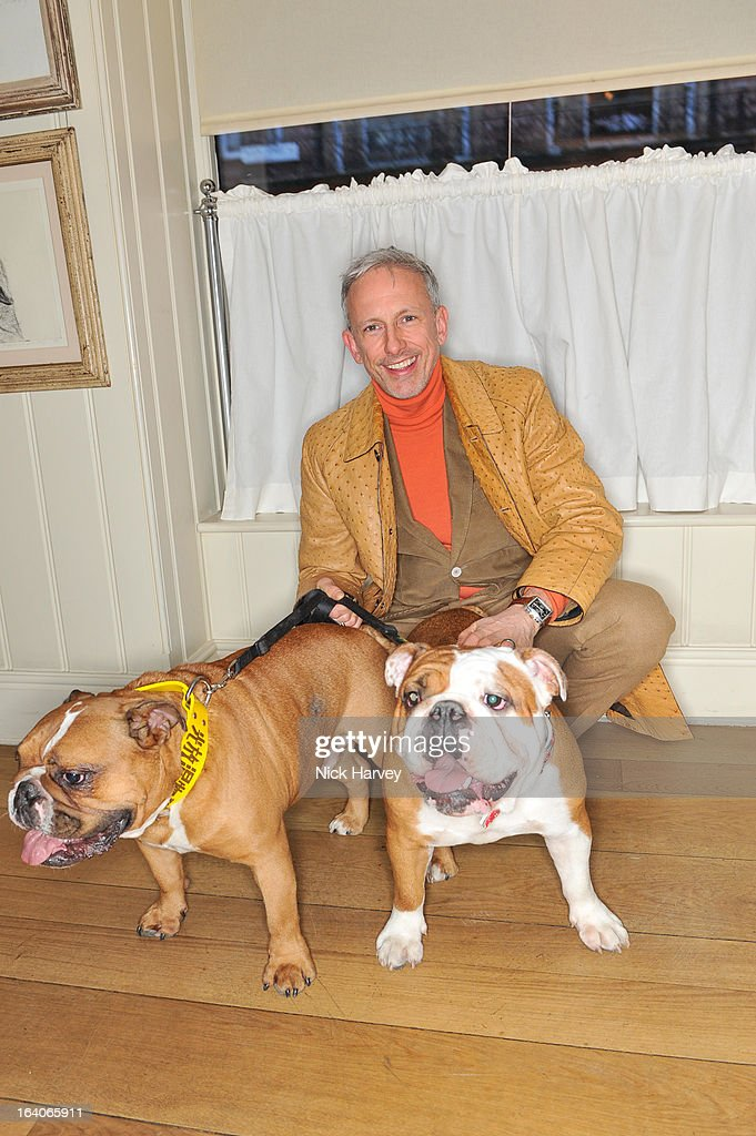 <a gi-track='captionPersonalityLinkClicked' href=/galleries/search?phrase=Patrick+Cox&family=editorial&specificpeople=213883 ng-click='$event.stopPropagation()'>Patrick Cox</a> attends the launch of George's Dinner for Dogs menu on March 19, 2013 in London, England.