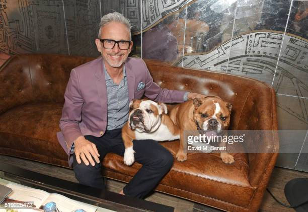 Patrick Cox attends the launch of Rosewood's Canine Luxury Experience hosted by Rosewood London and Barbour in association with Lily's Kitchen at on...