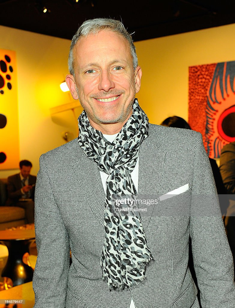 Patrick Cox attends the Moet Hennessy London Prize Jury Visit during the PAD London Art + Design Fair at Berkeley Square Gardens on October 14, 2013 in London, England.