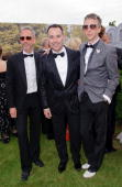 Patrick Cox David Furnich and Jefferson Hack attend the annual Raisa Gorbachev Foundation Party at Stud House Hampton Court on June 5 2010 in London...