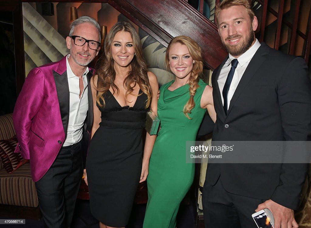 Patrick Cox Elizabeth Hurley Camilla Kerslake and Chris Robshaw attend the DSQUARED2 dinner in celebration of their new London Flagship opening at...