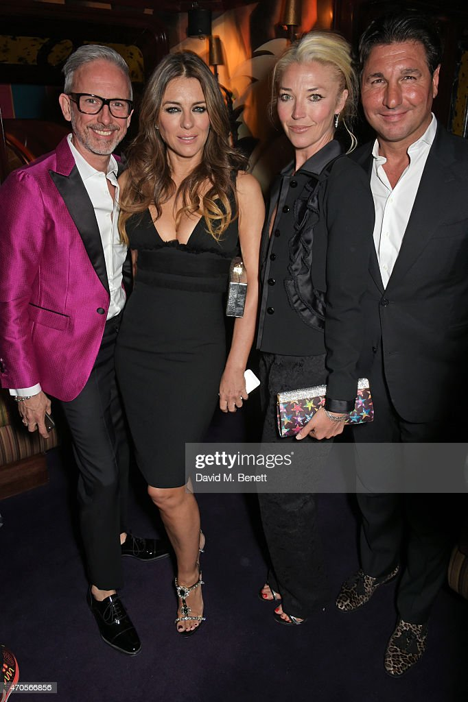 Patrick Cox Elizabeth Hurley Tamara Beckwith and Giorgio Veroni attend the DSQUARED2 dinner in celebration of their new London Flagship opening at...