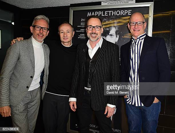 Patrick Cox Fenton Bailey David Furnish and guest attend a VIP screening of 'Mapplethorpe Look At The Pictures' a new documentary by Fenton Bailey at...