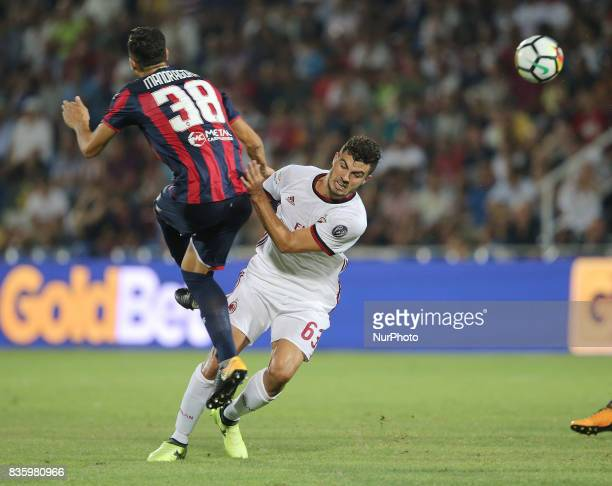 Patrick Cutrone during the Serie A match between FC Crotone and AC Milan on August 20 2017 in Crotone Italy