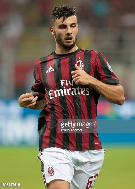 Patrick Cutrone of AC Milan looks on during the UEFA Europa League Third Qualifying Round Second Leg match between AC Milan and CSU Craiova at Stadio...