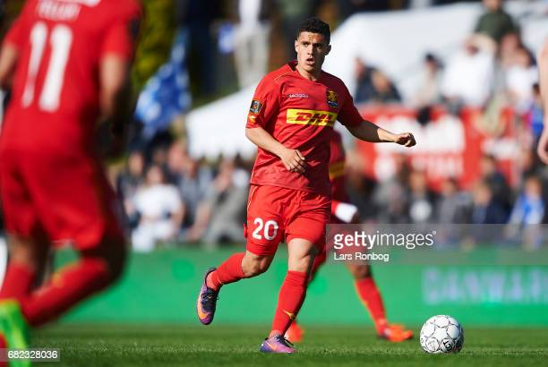 Patrick da Silva of FC Nordsjalland in action during the Danish Alka Superliga match between Lyngby BK and FC Nordsjalland at Lyngby Stadion on May...