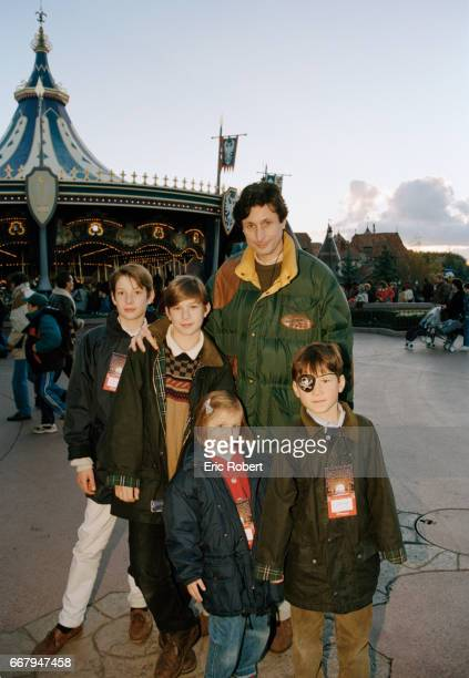 Patrick de Carolis takes his family to Disneyland Paris during the Christmas season