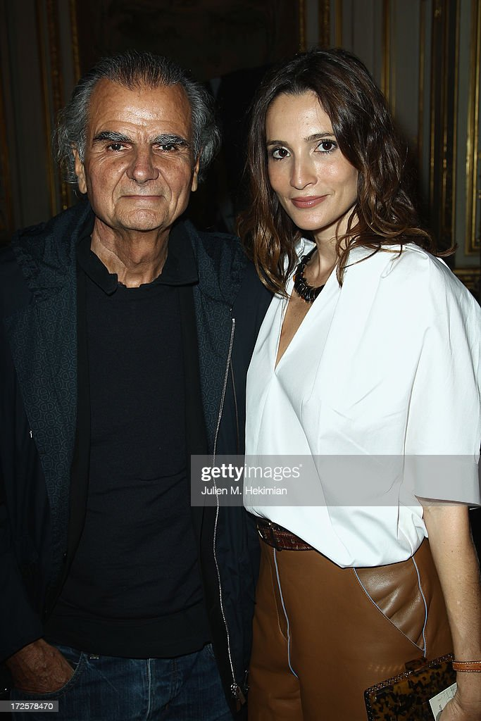 Patrick Demarchelier and Astrid Muñoz attend the Founder And CEO Alessandro Savelli And Contemporary Style Icon Julia Restoin Roitfeld Launch SAVELLI The World's First Luxury Smart Phone Especially For Women During Haute Couture Week at Musee Jacquemart-Andre on July 3, 2013 in Paris, France.