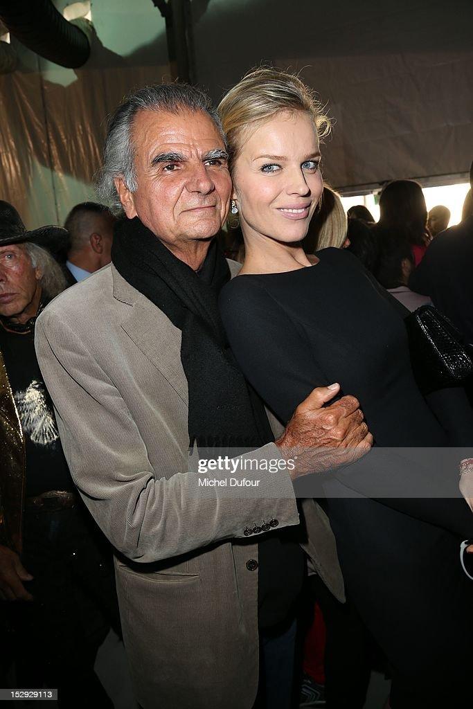 Patrick Demarchelier and Eva Herzigova attend the Christian Dior Spring/Summer 2013 show as part of Paris Fashion Week on September 28 2012 in Paris...