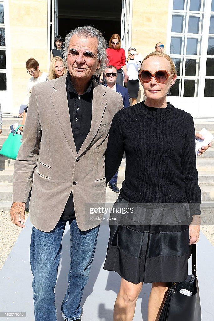 <a gi-track='captionPersonalityLinkClicked' href=/galleries/search?phrase=Patrick+Demarchelier&family=editorial&specificpeople=2118326 ng-click='$event.stopPropagation()'>Patrick Demarchelier</a> and his wife arrive Christian Dior show as part of the Paris Fashion Week Womenswear Spring/Summer 2014 on September 27, 2013 in Paris, France.