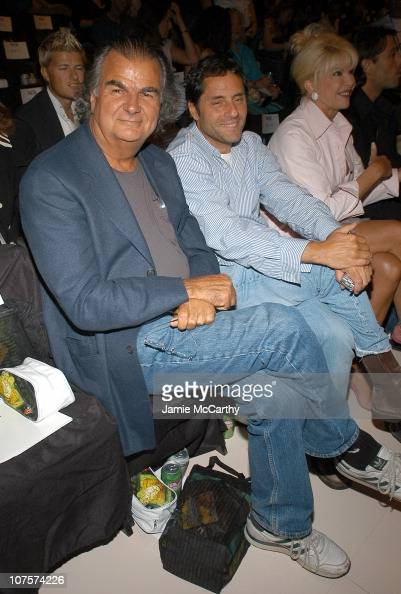 Patrick Demarchelier and Ivana Trump during Olympus Fashion Week Spring 2005 Rosa Cha by Amir Slama Front Row at Theater Tent Bryant Park in New York...
