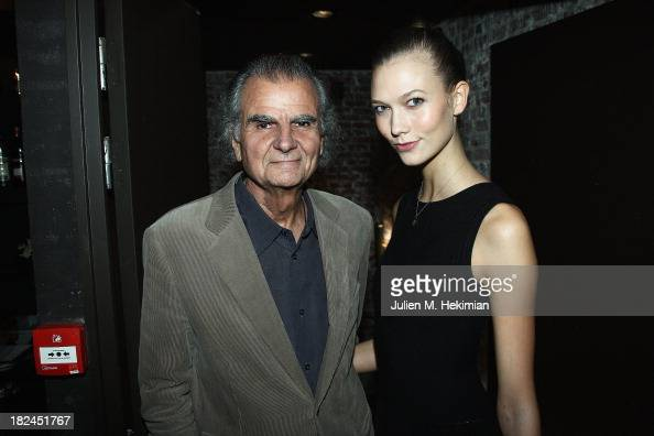 Patrick Demarchelier and Karlie Kloss attend the Glamour dinner for Patrick Demarchelier as part of the Paris Fashion Week Womenswear Spring/Summer...