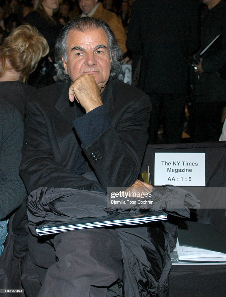 Patrick Demarchelier at BCBG Max Azria during Olympus Fashion Week Fall 2005 BCBG Max Azria Front Row at Bryant Park in New York City New York United...