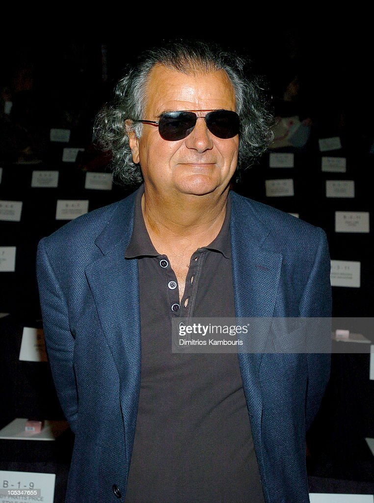 Patrick Demarchelier during Olympus Fashion Week Spring 2005 Oscar de la Renta Front Row at Theater Tent Bryant Park in New York City New York United...