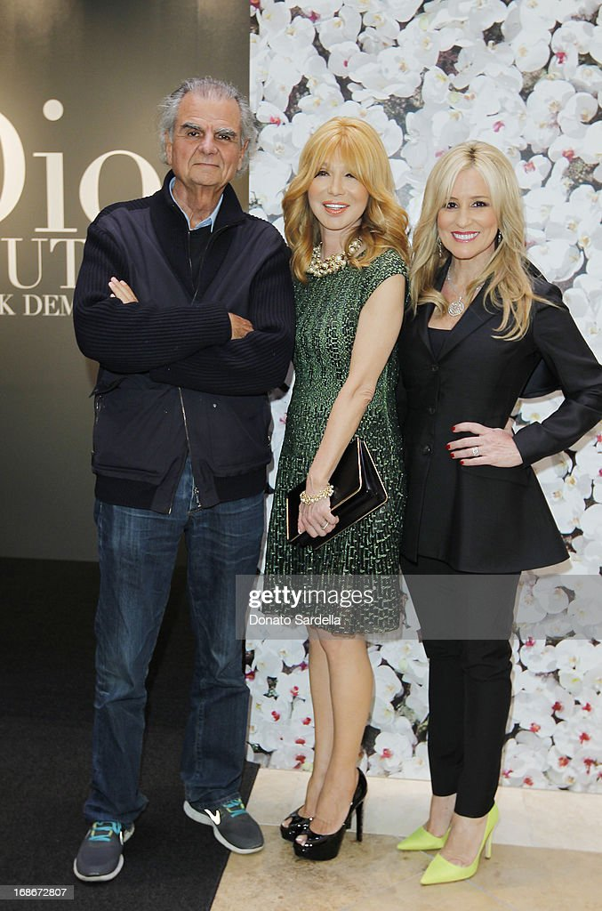Patrick Demarchelier, Elizabeth Segerstrom and Karen Watkins attend Dior celebrates the opening of Dior Couture Patrick Demarchelier Exhibition at the Dior store at South Coast Plaza May 10, 2013 in Costa Mesa, California.