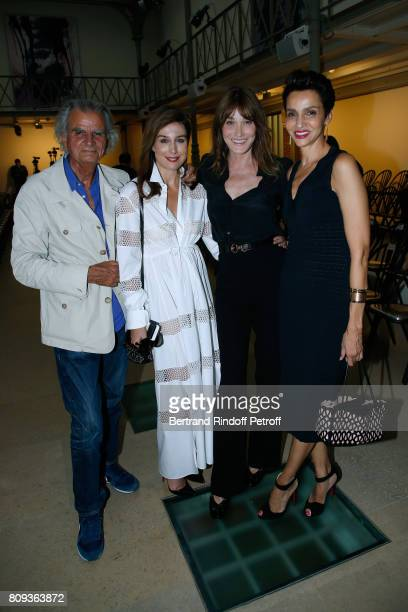 Patrick Demarchelier Elsa Zylberstein Carla BruniSarkozy and Farida Khelfa Seydoux attend the Azzedine Alaia Fashion Show as part of Haute Couture...