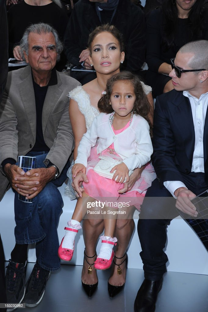 Patrick Demarchelier Jennifer Lopez and her daughter Emme Maribel Muniz and Casper Smart attend the Chanel Spring / Summer 2013 show as part of Paris...
