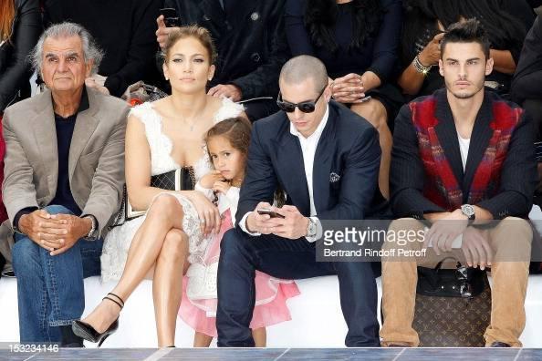 Patrick Demarchelier Jennifer Lopez her daughter Emme Maribel Muniz Casper Smart and Baptiste Giabiconi attend the Chanel Spring / Summer 2013 show...