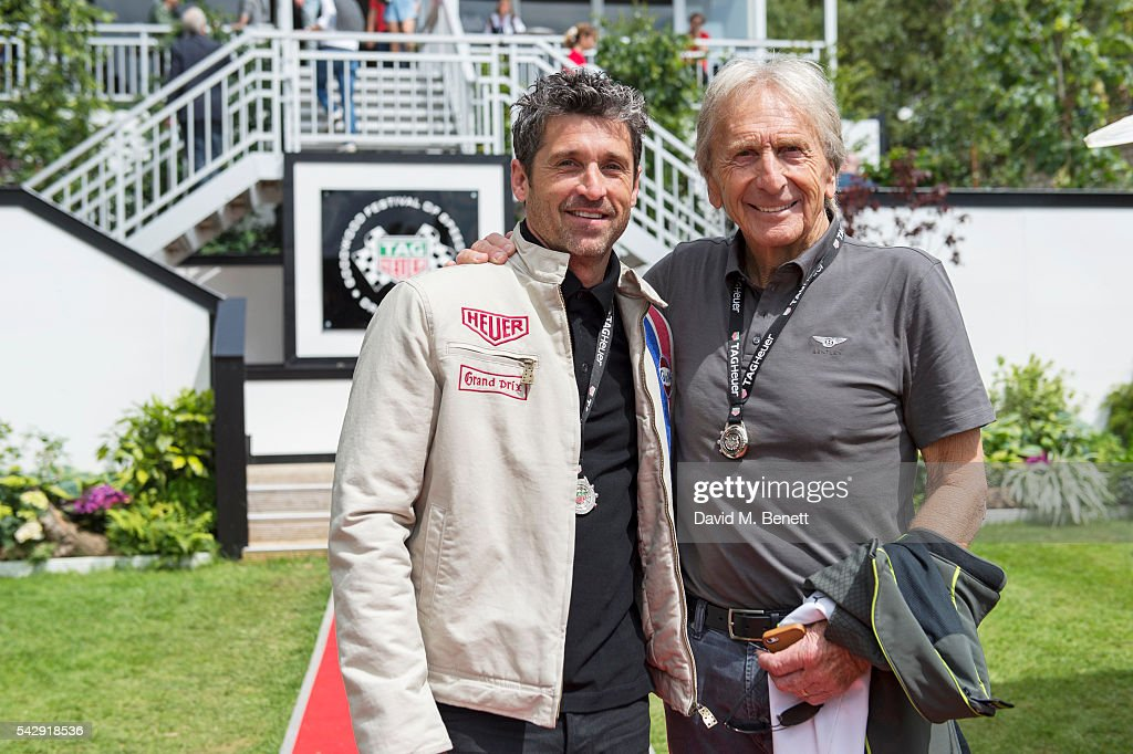 Patrick Dempsey (L) and Derek Bell attend the TAG Heuer Drivers Club at the Goodwood Festival Of Speed on June 25, 2016 in Chichester, England.