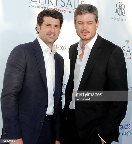 Patrick Dempsey and Eric Dane during Sixth Annual Chrysalis Butterfly Ball Arrivals at Home of Susan Harris Hayward Kaiser in Mandeville Canyon...