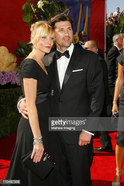 Patrick Dempsey and guest during 58th Annual Primetime Emmy Awards Arrivals at Shrine Auditorium in Los Angeles California United States
