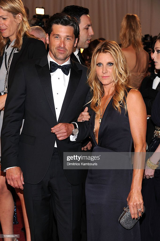 Patrick Dempsey and Jill Fink attend the 'Alexander McQueen: Savage Beauty' Costume Institute Gala at The Metropolitan Museum of Art on May 2, 2011 in New York City.