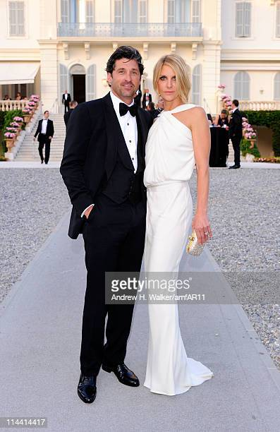 Patrick Dempsey and Jillian Dempsey attend amfAR's Cinema Against AIDS Gala during the 64th Annual Cannes Film Festival at Hotel Du Cap on May 19...