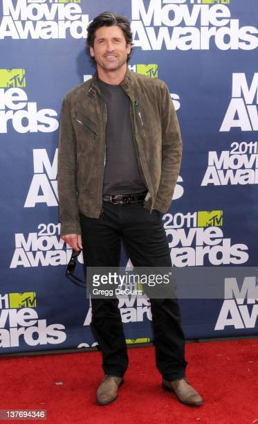 Patrick Dempsey arrives at the 2011 MTV Movie Awards at the Gibson Amphitheatre on June 5 2011 in Universal City California