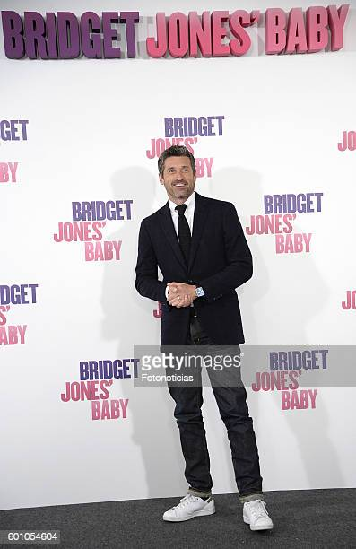Patrick Dempsey attends a photocall for 'Bridget Jones Baby' at Villamagna Hotel on September 9 2016 in Madrid Spain