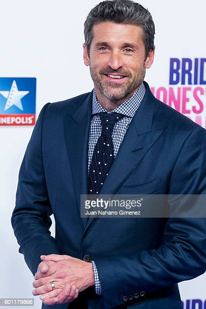 Patrick Dempsey attends 'Bridget Jones Baby' premiere at Kinepolis Cinema on September 9 2016 in Madrid Spain