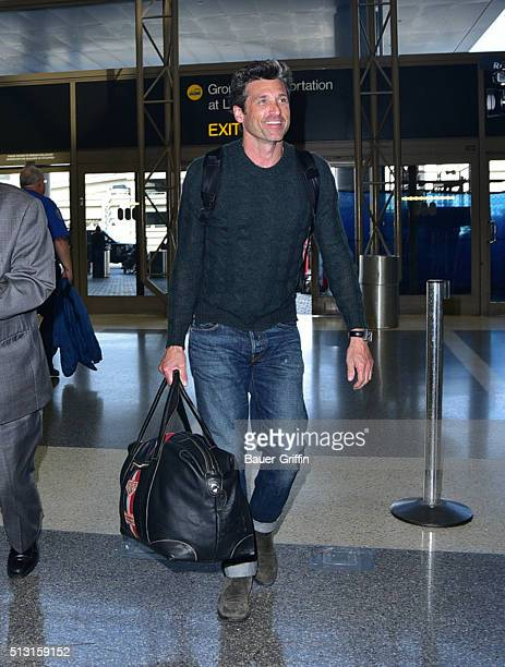 Patrick Dempsey is seen at LAX on February 29 2016 in Los Angeles California