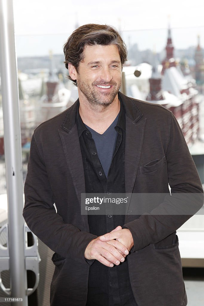 Patrick Dempsey poses for a photocall before global premiere of 'Transformers 3' movie on the roof of the Ritz hotel on June 23, 2011 in Moscow, Russia.
