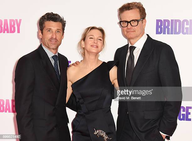 Patrick Dempsey Renee Zellweger and Colin Firth attend the World Premiere of 'Bridget Jones's Baby' at Odeon Leicester Square on September 5 2016 in...