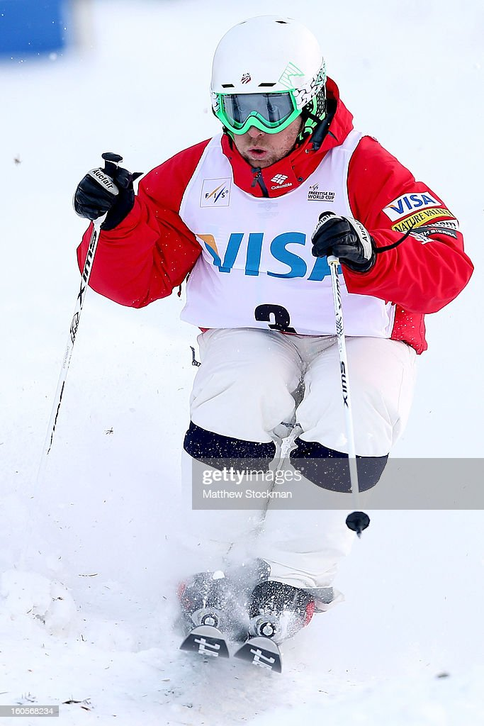 <a gi-track='captionPersonalityLinkClicked' href=/galleries/search?phrase=Patrick+Deneen&family=editorial&specificpeople=2578503 ng-click='$event.stopPropagation()'>Patrick Deneen</a> #3 skis in the qualifications for the Mens Dual Moguls during the Visa Freestyle International at Deer Valley on February 2, 2013 in Park City, Utah.