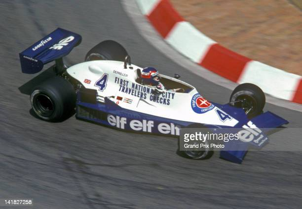Patrick Depailler of France drives the Elf Team Tyrrell Tyrrell 008 Ford Cosworth DFV V8 during the Monaco Grand Prix on 7th May 1978 on the streets...