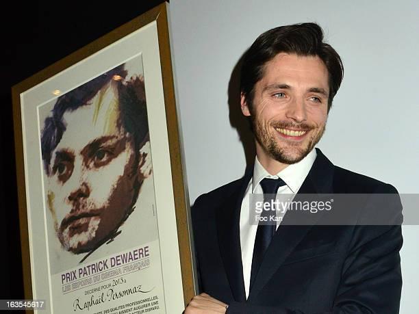 Patrick Dewaere 2013 awarded actor Raphael Personnaz attends the Romy Schneider And Patrick Dewaere Awards 2013 Ceremony at the Park Hyatt Paris...