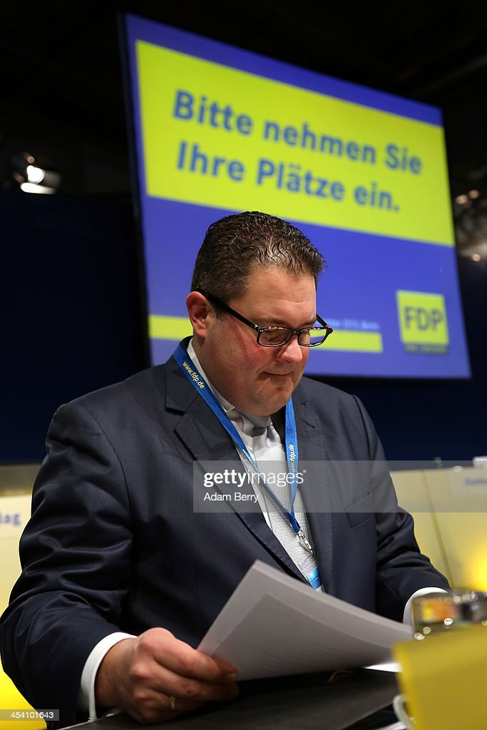 Patrick Doering, general secretary of the German Free Democratic Party (Freie Demokratische Partei, or FDP), attends an FDP party congress on December 7, 2013 in Berlin, Germany. The pro-business FDP failed to make it into the Bundestag, or German parliament, in general elections in September, having only secured 4.7 percent of the vote, the worst result in the party's history.