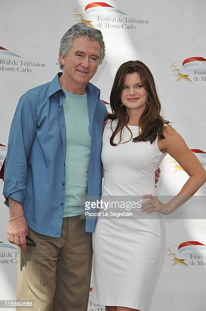 Patrick Duffy and Heather Tom attend 'The Bold and the Beautiful' photocall during the 51st Monte Carlo TV Festival at the Grimaldi forum on June 8...
