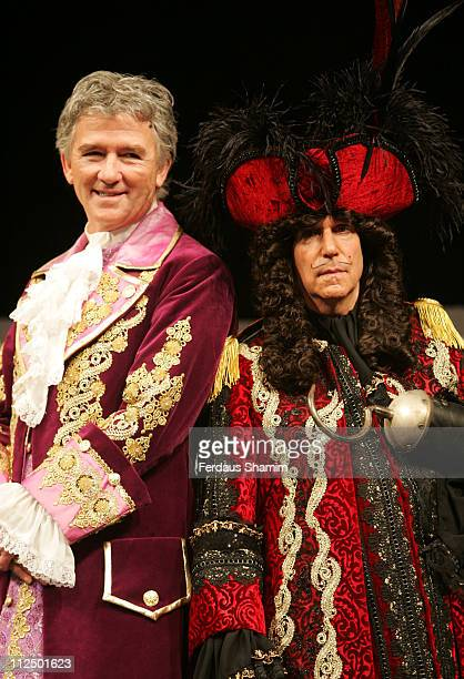 Patrick Duffy and Henry Winkler during Christmas Pantomimes National Press Launch at Picadilly Theatre in London Great Britain