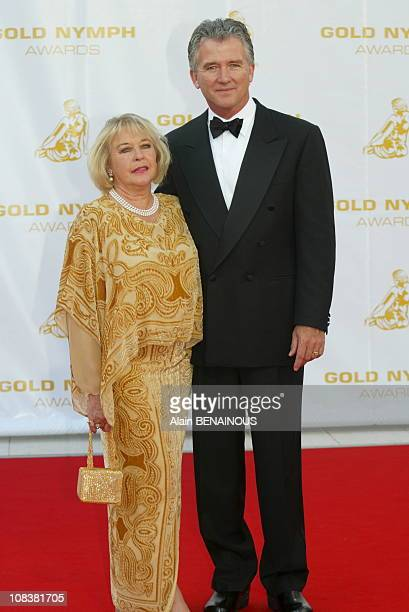 Patrick Duffy and his wife in France on July 06 2002