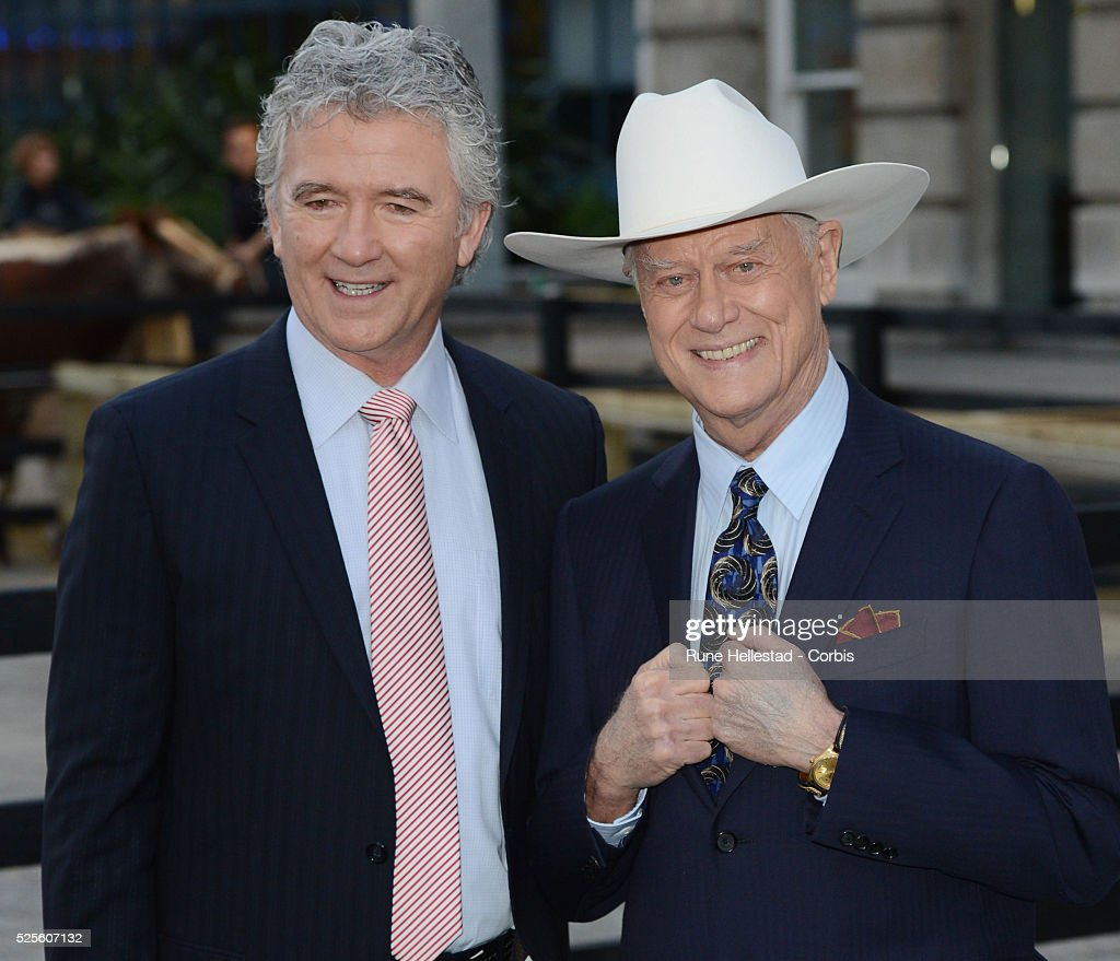 Patrick Duffy and Larry Hagman attend the launch party of Dallas at Old Billingsgate
