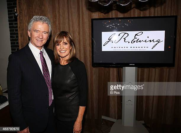 Patrick Duffy and Linda Gray attends the JR Ewing Bourbon's Launch Party on August 18 2014 in Sydney Australia
